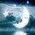 Boy On The Moon Cross Stitch Pattern