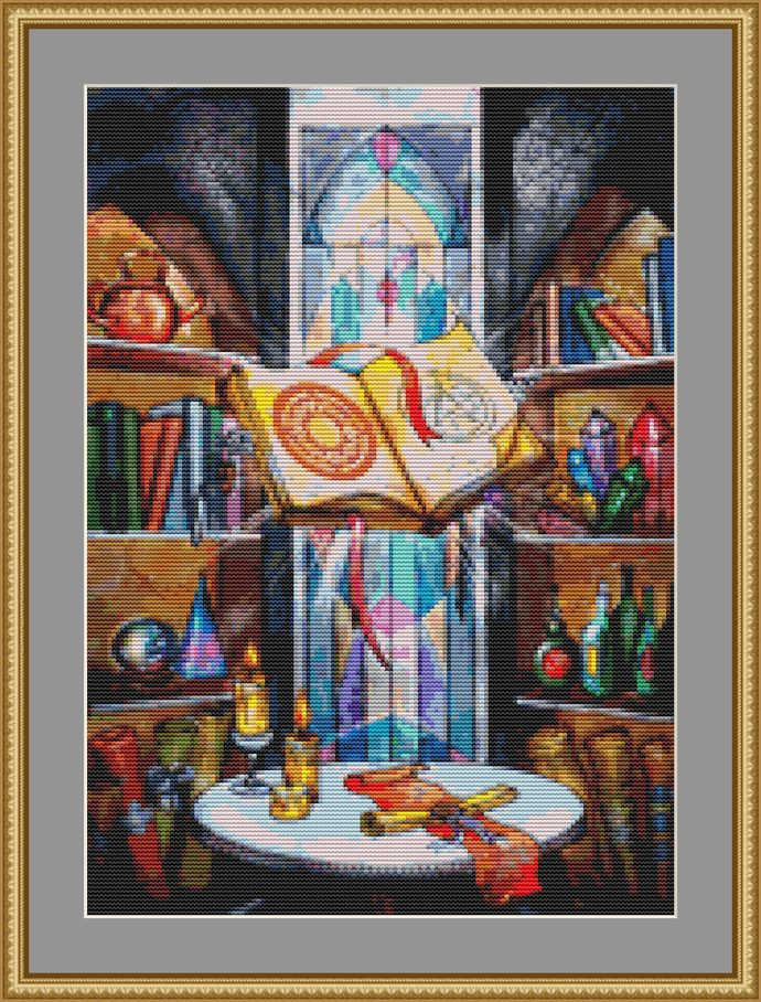 Book Of Spells Cross Stitch Pattern