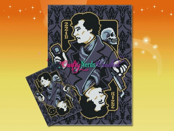 Sherlock Playing Card Wallpaper Background Throw Pattern Graph With Single
