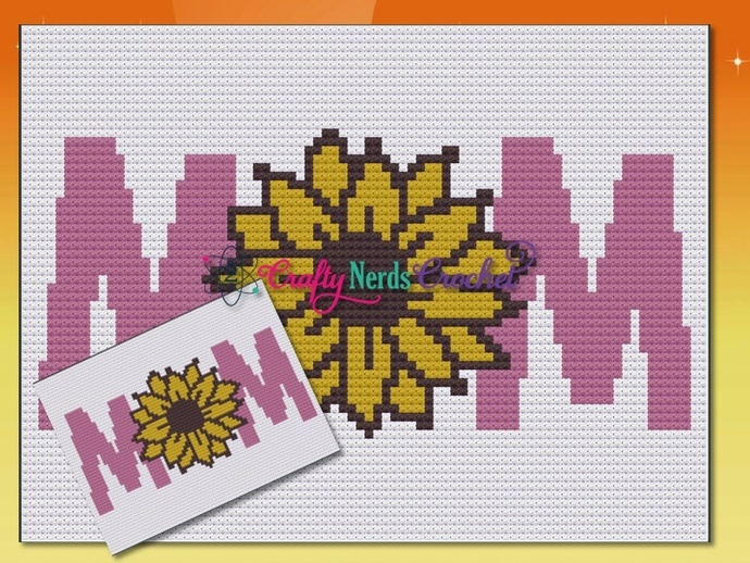 Mom Sunflower O Pattern Graph With C2C or Mini C2C Written