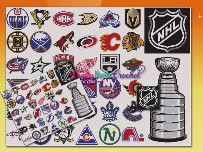 NHL CAL Full Bundle Single Crochet SC Pattern Graph with Written