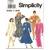 Simplicity 7999 Misses Slim, Flared Dress 90s Vintage Sewing Pattern 6, 8, 10,