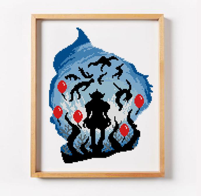 Horror cross stitch pattern halloween cross stitch pattern easy cross stitch