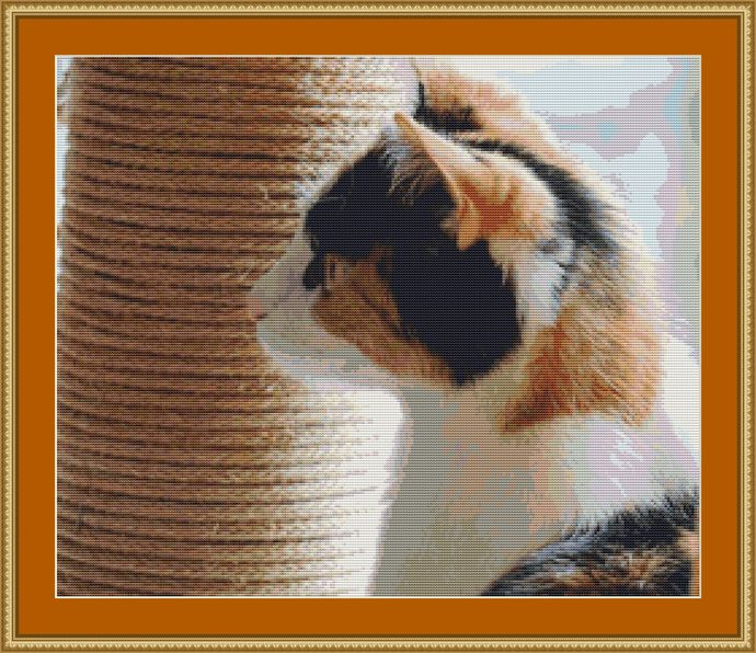 By The Scratching Pole Cross Stitch Pattern