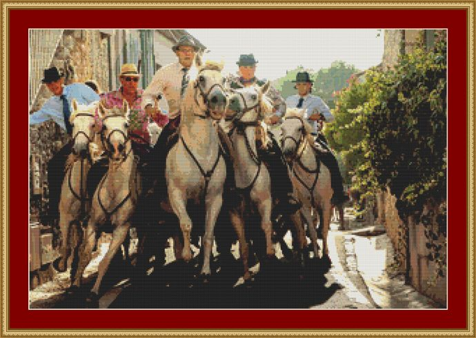 Guardians Of The Camargue Cross Stitch Pattern