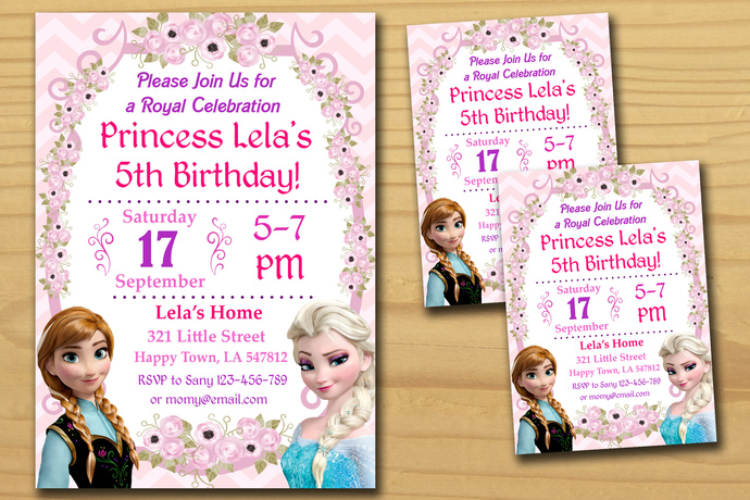 Frozen birthday invitation,Birthday Party Invitation,Birthday Party