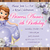 Princess Sofia the First birthday invitation,Birthday Party Invitation,Birthday