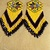 Native American Style Brick Stitched Four Direction Morning Star Earrings Done