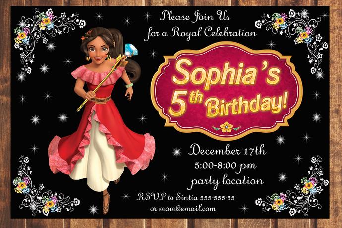 Princess Elena of Avalor birthday invitation,Birthday Party Invitation,Birthday