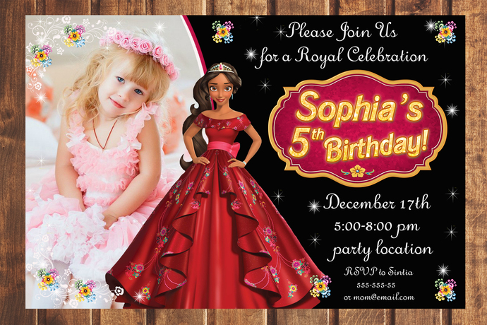 Princess Elena of Avalor birthday invitation,Birthday Party Invitation,Birthday