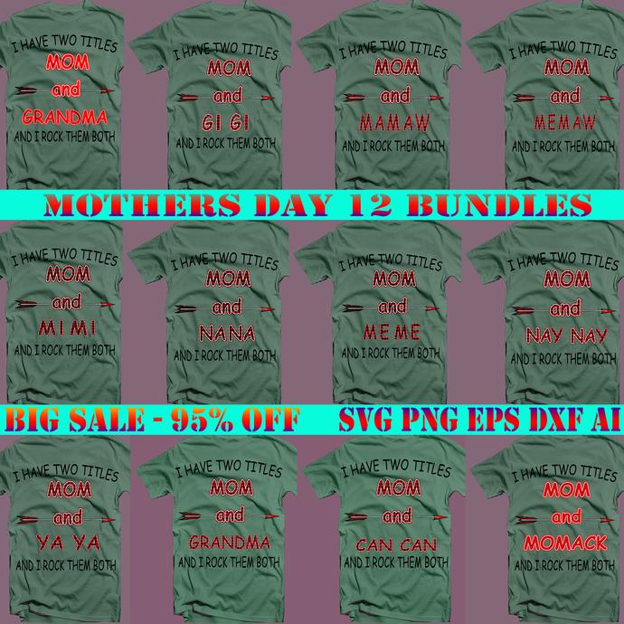 Mom and Buffalo Plaid Svg Png 12 Bundle, Bundle Mothers Day, Buffalo Plaid svg