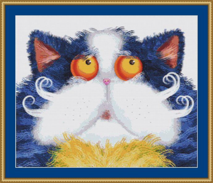 Cute Cat Cross Stitch Pattern
