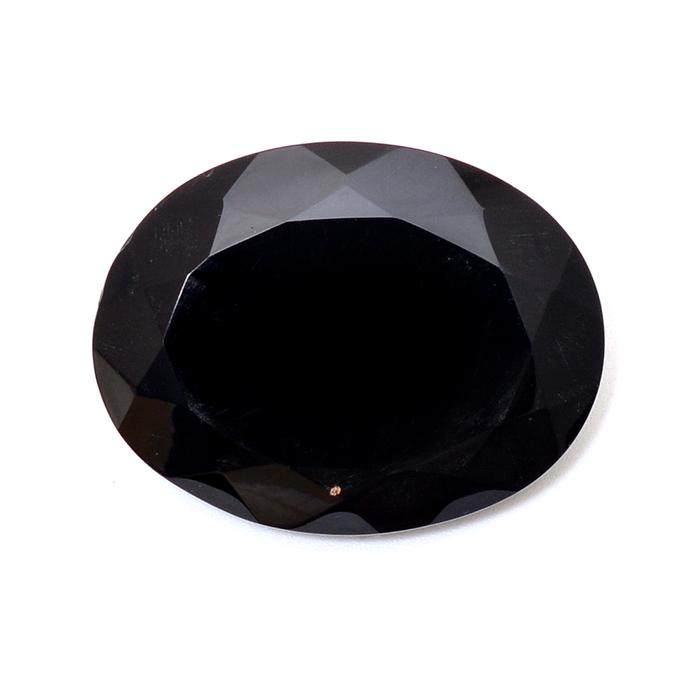 Black Spinel Faceted Oval 60x50 mm  Loose Gemstone,Black Spinel Oval,Natural