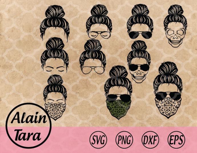 Messy bun hair svg,svg,png,Momlife SVG,momlife,Kidlife svg, Matching Messy bun