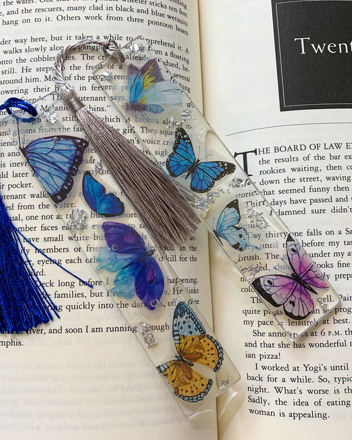 Resin Bookmarkers with Fun Beautiful Inclusions