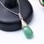 Pave Diamond Pendant,Emerald Pave Diamond Pendant,Emerald Teardrop,Emerald Drop