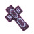 Decorated Cross Ornament Purple double sided hanging decoration