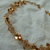 vintage Joomi Joolz signed gold arum ab crystal bi cone weave necklace sparkling