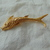 highly detailed vintage gold fish brooch