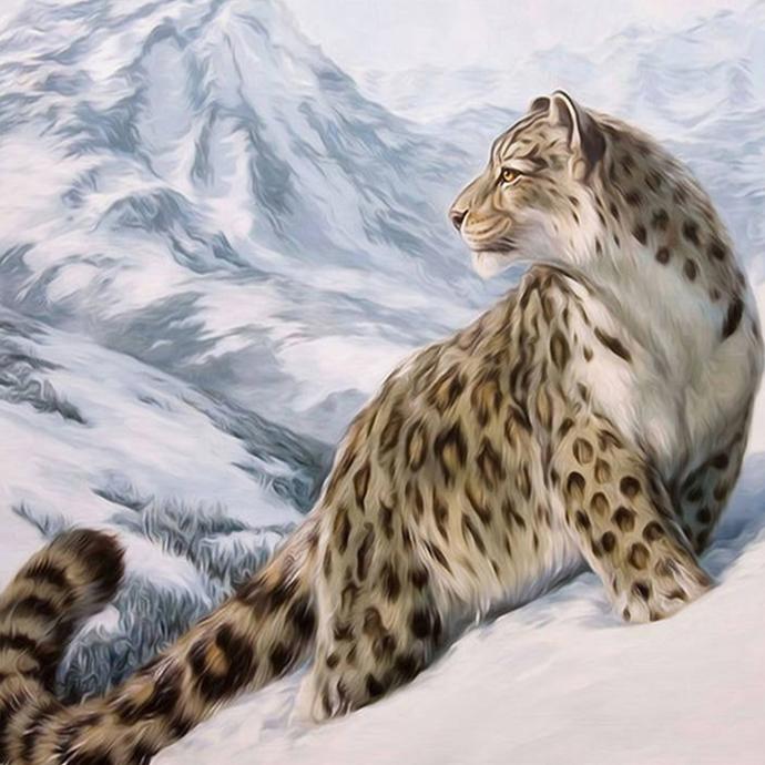 SNOW LEOPARD (2) XSTITCH KIT