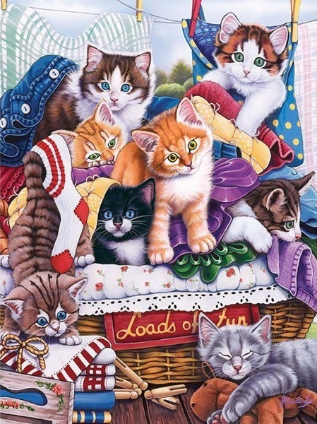 CATS THAT PLAY XSTITCH KIT