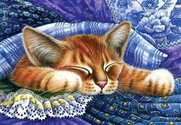 SLEEPY CAT XSTITCH KIT