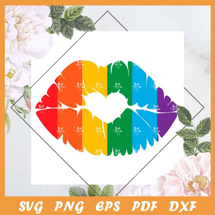 Pride Lips Svg, Trending Svg, Trending Svg, LGBT SVG, LGBTQ Svg, LGBT Gift Svg,