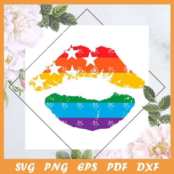 American Pride Lips Svg, Trending Svg, Trending Svg, LGBT SVG, LGBTQ Svg, LGBT