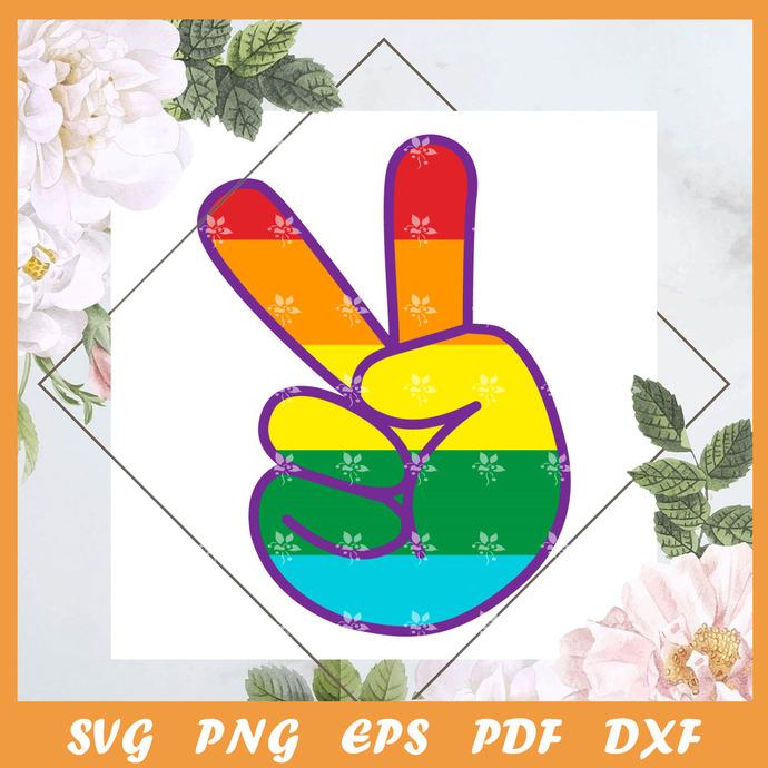 Peace Pride Svg, Trending Svg, Trending Svg, LGBT SVG, LGBTQ Svg, LGBT Gift Svg,