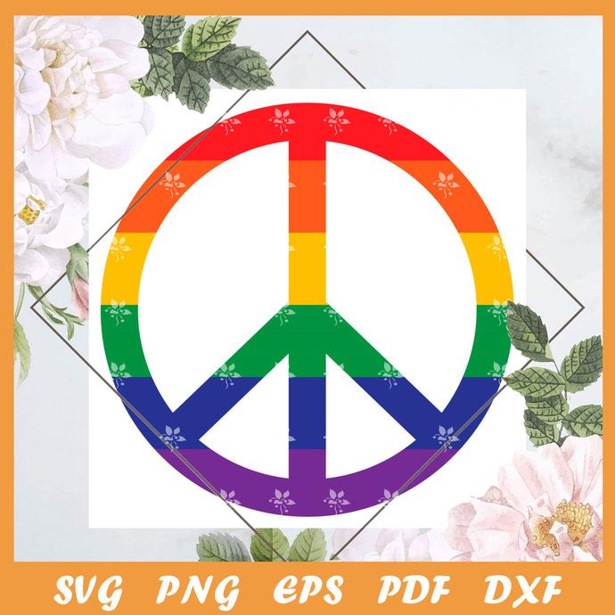 Pride Peace Svg, Trending Svg, Trending Svg, LGBT SVG, LGBTQ Svg, LGBT Gift Svg,
