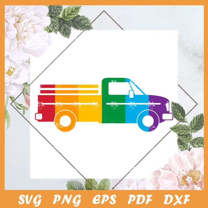 Pride Truck Svg, Trending Svg, LGBT Svg, LGBTQ Svg, Pride Svg, Pride Gift Svg,