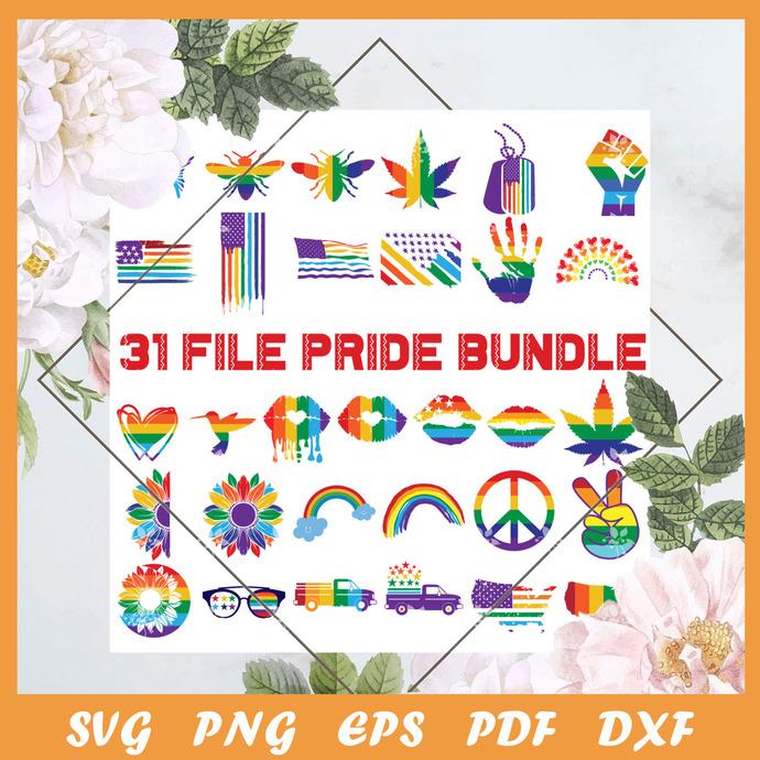 31 File Pride Bundle Svg, Trending Svg, LGBT Svg, Pride Svg, LGBT Gift Svg,