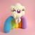 Super Duper Rainbow Cloud, Needle felted art toy, Cloud soft sculpture, Rainbow
