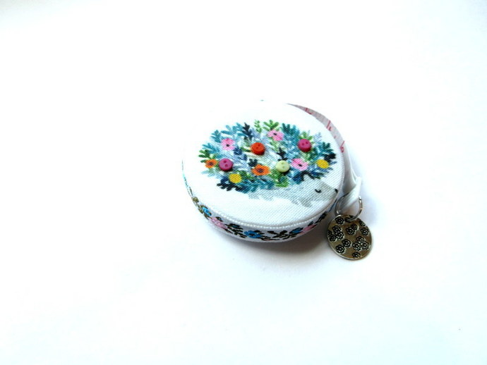 Tape Measure Hedgehogs and Flowers Small Retractable Measuring Tape
