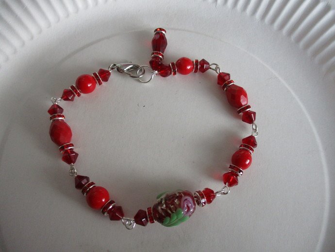 Beautiful Glass Lampwork Beaded Bracelets - Handmade by me