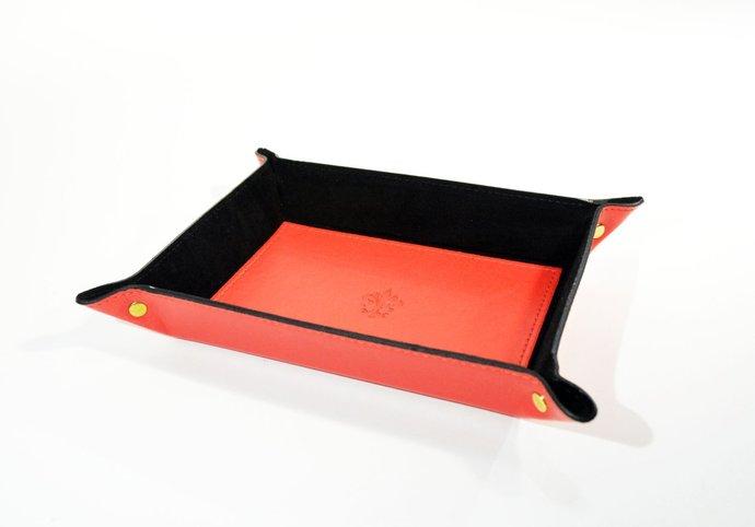 Leather Valet Tray Catch All Tray Organizer Tray Key Coin Storage Jewelry Tray