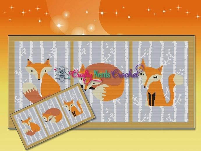 Fox In The Woods Gallery Pattern Graph With Single Crochet Written