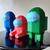 Among us astronaut papercraft sculptures, printable 3D puzzle, papercraft Pdf