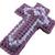Purple Lavender Christian Cross Ornament triple cross design