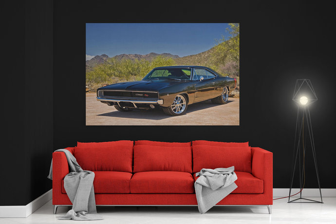 Dodge Charger 1968 Canvas Dodge Charger 1968 Car canvas print Dodge Charger
