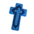 Shades of Blue Christian Cross Ornament triple cross design