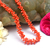 Natural Coral Beaded Necklace,Vintage Branch Coral Necklce,925 Sterling Silver