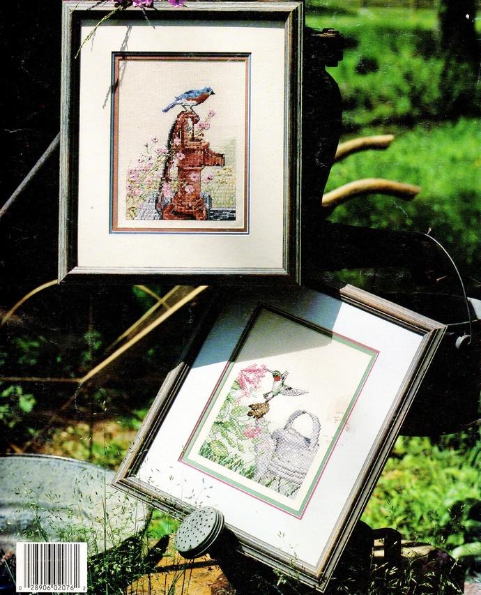 Birds Backyard Visitors Cross Stitch Patterns 1990s Vintage Leisure Arts Leaflet