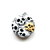Tape Measure with Black and White Skulls Small Retractable Measuring Tape