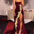 Sexy High Side Split Velvet Prom Dresses with Gold Applique Sweetheart Vestidos