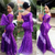 Plus Size Lace Evening Dress 2021 South African Puff Sleeve Mermaid Prom Dresses