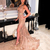 Lace Mermaid Evening Dresses With Lace Appliques 2021 Beadings High Side Split