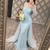 2021 Luxurious Beading Crystals Mermaid Evening Dresses Long Sleeves Detachable