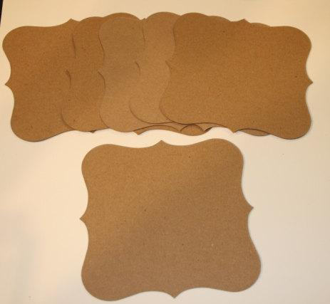 6 FANCY SQUARE chipboard shapes for mini scrapbook albums mini smash journals