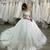 boat neck wedding dresses off white lace applique long sleeve elegant boho